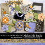 Makes Me Smile Embellishment Pack 2-$1.40 (Laura Burger)
