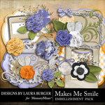 Makes Me Smile Embellishment Pack-$1.40 (Laura Burger)