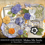 Makes Me Smile Embellishment Pack-$3.49 (Laura Burger)