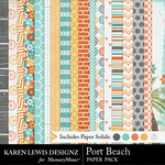 Port Beach Paper Pack-$3.99 (Karen Lewis)