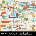 Port Beach Embellishment Pack-$2.99 (Karen Lewis)