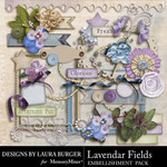Lavendar Fields Embellishment Pack-$3.49 (Laura Burger)