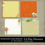 Lil Day Dreamer Stacked Paper Pack-$1.40 (Laura Burger)