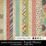 Family Matters KL Paper Pack-$2.80 (Karen Lewis)