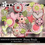 Pretty Petals Embellishment Pack-$3.49 (Laura Burger)