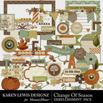 Change of Season Embellishment Pack-$2.49 (Karen Lewis)