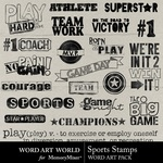 Sports Stamps WordArt-$2.49 (Word Art World)