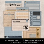 A Day at the Museum Journal Cards-$2.49 (Word Art World)