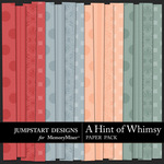 A Hint of Whimsy Embossed Paper Pack-$3.49 (Jumpstart Designs)