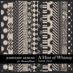 A Hint of Whimsy Paper Pack-$3.49 (Jumpstart Designs)