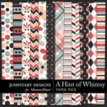 A Hint of Whimsy Pattern Paper Pack-$3.49 (Jumpstart Designs)