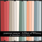 A Hint of Whimsy Plain Paper Pack-$3.49 (Jumpstart Designs)