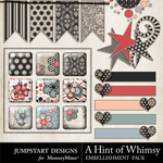 A Hint of Whimsy Flairs-$2.49 (Jumpstart Designs)