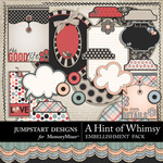 A Hint of Whimsy Journal Bits-$2.49 (Jumpstart Designs)