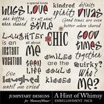 A Hint of Whimsy WordArt-$3.99 (Jumpstart Designs)
