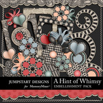 A Hint of Whimsy Embellishment Pack-$3.49 (Jumpstart Designs)