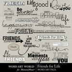 Friends for Life WordArt-$2.49 (Word Art World)