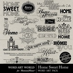 Home Sweet Home WordArt-$2.49 (Word Art World)