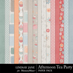 Afternoon Tea Party Paper Pack-$3.49 (Lindsay Jane)