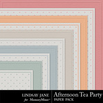Afternoon Tea Party Embossed Paper Pack-$1.99 (Lindsay Jane)