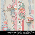 Afternoon Tea Party Borders-$1.99 (Lindsay Jane)