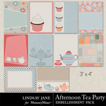 Afternoon Tea Party Journal Cards-$1.99 (Lindsay Jane)
