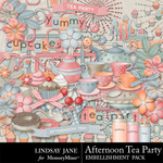 Afternoon Tea Party Embellishment Pack-$3.49 (Lindsay Jane)