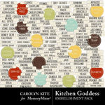 Kitchen Goddess Labels 1-$2.49 (Carolyn Kite)