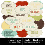 Kitchen Goddess Labels 2-$2.49 (Carolyn Kite)