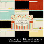 Kitchen Goddess Recipe Cards-$1.25 (Carolyn Kite)