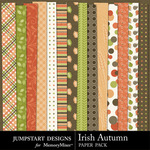 Irish Autumn Pattern Paper Pack-$1.75 (Jumpstart Designs)