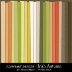 Irish Autumn Plain Paper Pack-$3.49 (Jumpstart Designs)