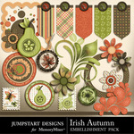 Irish Autumn Add On Embellishment Pack-$3.49 (Jumpstart Designs)
