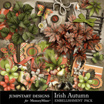 Irish Autumn Embellishment Pack-$3.49 (Jumpstart Designs)