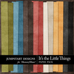 Its the Little Things Plain Paper Pack-$3.49 (Jumpstart Designs)