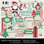 Holiday Magic Embellishment Pack-$2.99 (Karen Lewis)