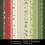 Jolly Christmas Paper Pack-$3.49 (Lindsay Jane)