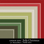 Jolly Christmas Embossed Paper Pack-$1.99 (Lindsay Jane)