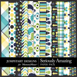 Seriously Amazing Pattern Paper Pack-$3.49 (Jumpstart Designs)