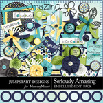 Seriously Amazing Embellishment Pack-$3.49 (Jumpstart Designs)