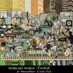 Football Combo Pack-$4.99 (Word Art World)