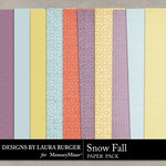 SnowFall Solid Paper Pack-$1.40 (Laura Burger)