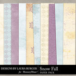 SnowFall Pattern Paper Pack-$3.49 (Laura Burger)