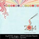 2014 Calendar Sq FayETTE-$4.99 (Fayette Designs)