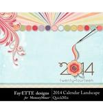 2014 Calendar LS FayETTE-$4.99 (Fayette Designs)