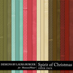 Spirit of Christmas Solid Paper Pack-$3.49 (Laura Burger)