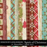 Spirit of Christmas Pattern Paper Pack-$1.75 (Laura Burger)