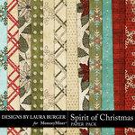 Spirit of Christmas Glitter Paper Pack-$1.40 (Laura Burger)