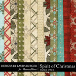 Spirit of Christmas Glitter Paper Pack-$1.75 (Laura Burger)