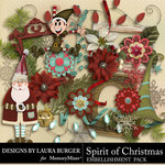 Spirit of Christmas Embellishment Pack 1-$3.49 (Laura Burger)